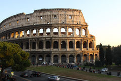 Colosseum Rome Sunset Royalty Free Stock Photography