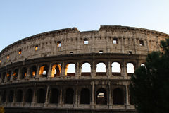Colosseum Rome Sunset Stock Photos