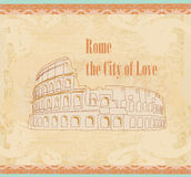 Colosseum in Rome -  vintage card Stock Images