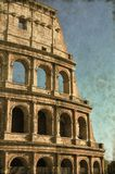 Colosseum in Rome - Vintage Royalty Free Stock Photo