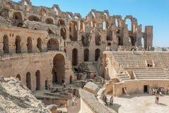 Colosseum rovinato in Tunisia, EL Jem Immagine Stock