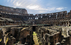 Colosseum ruins panoramic view Royalty Free Stock Photo