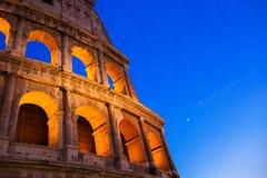 colosseum sławny Italy najwięcej miejsca Rome widok antyczny stadium Obrazy Stock