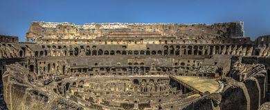 Colosseum ` s Roma от внутренности Стоковое Фото