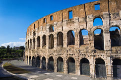 Colosseum Side View Royalty Free Stock Photography
