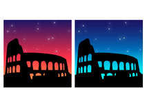 Colosseum silhouette Stock Photography