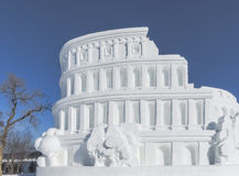 Colosseum snow Royalty Free Stock Image