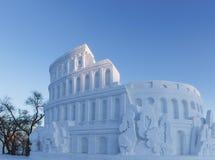 Colosseum snow Royalty Free Stock Photos