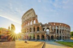 Colosseum soluppgång Royaltyfri Fotografi