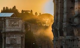 Colosseum-Sonnenuntergang II Stockbild