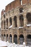 Colosseum sotto neve Immagine Stock Libera da Diritti