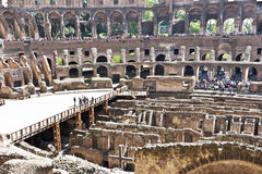Colosseum spectacular monument of ancient Rome in Italy Stock Photo