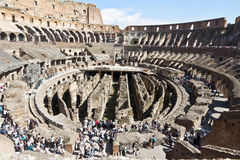 Colosseum spectacular monument of ancient Rome in Italy Stock Photography