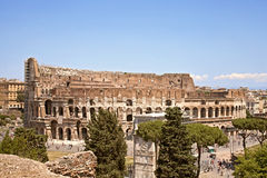 Colosseum, street view from the Palantine Hills Stock Photos
