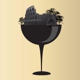 Colosseum su vetro Immagini Stock Libere da Diritti