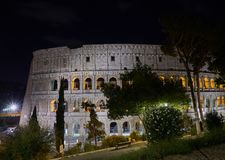 Colosseum Summernight in Rom Stockbilder