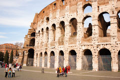 The Colosseum in a sunny day Stock Image
