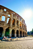 Colosseum in a sunny day in Rome Royalty Free Stock Photo