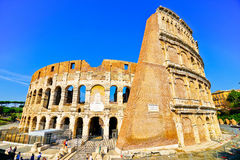 Colosseum in a sunny day in Rome Stock Photos