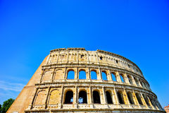 Colosseum in a sunny day in Rome Stock Photography