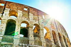 Colosseum in a sunny day in Rome Royalty Free Stock Photography