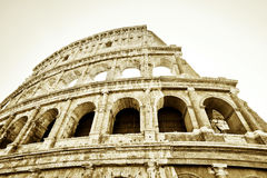 Colosseum in a sunny day in Rome Stock Image