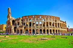 Colosseum in a sunny day in Rome Royalty Free Stock Photos