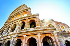 Colosseum in a sunny day in Rome Royalty Free Stock Images