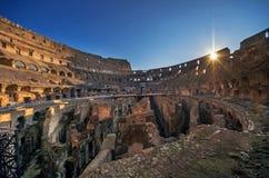 Colosseum sunrise. Collosseum perfect sunrise Stock Images