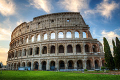 Colosseum at Sunrise, Rome, Italy Stock Image