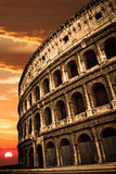 Colosseum Sunrise Sunset Royalty Free Stock Photos
