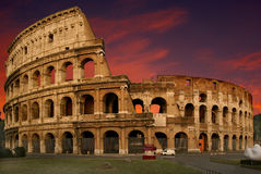 The Colosseum at sunset Royalty Free Stock Images