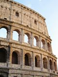 Colosseum at sunset. Detail of the roman colosseum in the sunset light Stock Photos