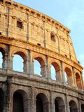Colosseum at sunset. Detail of the roman colosseum in the sunset light Royalty Free Stock Photos