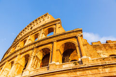 Colosseum at sunset Royalty Free Stock Images