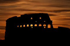 Colosseum at sunset Royalty Free Stock Photos