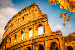Colosseum at sunset Stock Photography