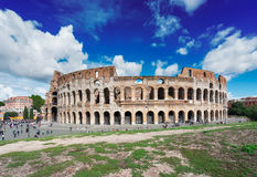 Colosseum at sunset in Rome, Italy Stock Image