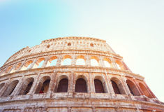 Colosseum at sunset in Rome, Italy Royalty Free Stock Photos