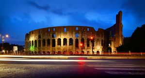Colosseum at the sunset Stock Photos