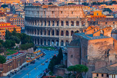 Colosseum at sunset Stock Photos