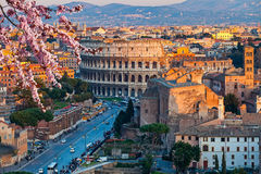Colosseum at sunset. View on Colosseum in Rome, Italy Royalty Free Stock Image