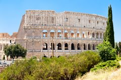 The Colosseum in central Rome on a sunny summer day Stock Photo