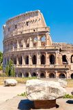 The Colosseum in central Rome on a sunny summer day Royalty Free Stock Images