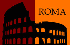 Colosseum symbol of Rome Stock Image