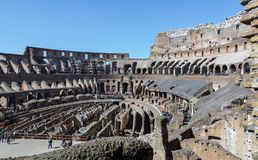 The Colosseum is a symbol of the strength, power and age-old history of Rome. It is considered the most beautiful and largest stock photography