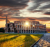 Colosseum tijdens de lentetijd, Rome, Italië Stock Foto