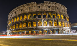 Colosseum with traffic Royalty Free Stock Photo