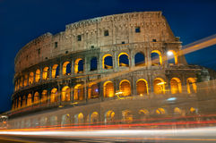 Colosseum Traffic lights Royalty Free Stock Image