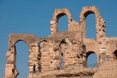 Colosseum tunisino - arcos dilapidados Imagem de Stock Royalty Free